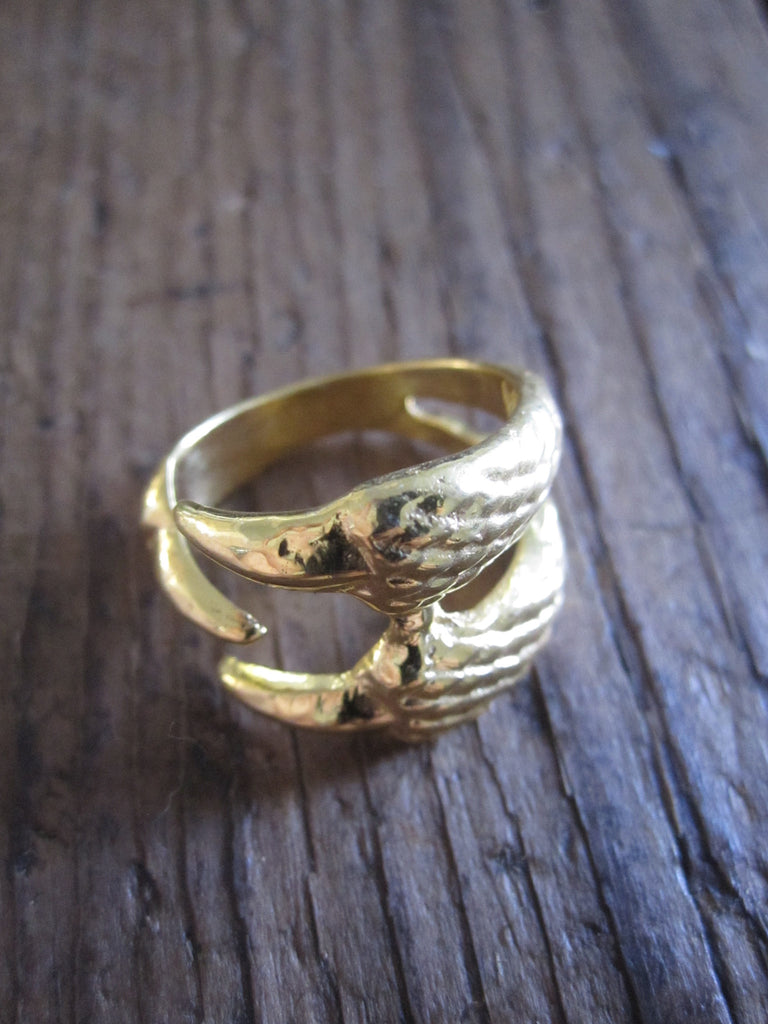 CollardManson 925 Gold Plated Silver Claw Ring