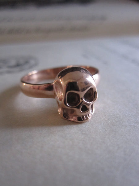 WDTS 925 Silver Skull Ring- rose gold