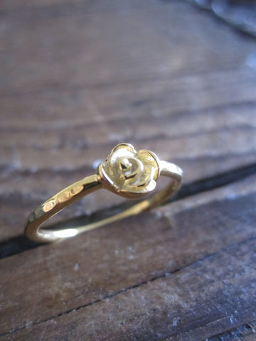 CollardManson 925 Gold Plated Silver Rose Ring