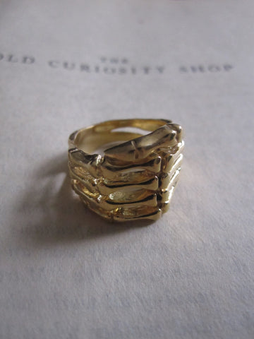 CollardManson 925 silver Skeleton Ring with gold plating