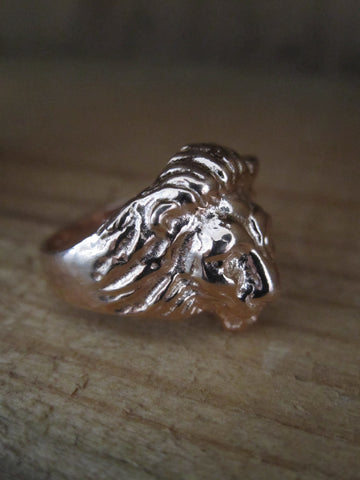 Rose gold plated 925 Silver Lion Ring