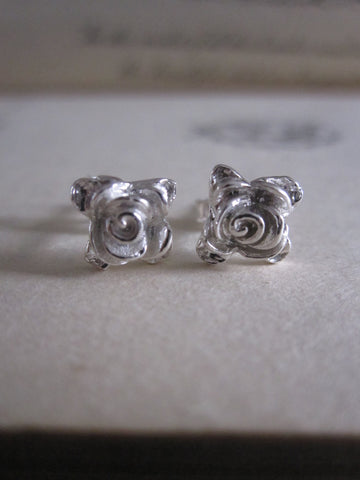 CollardManson 925 Shiny Silver rose studs