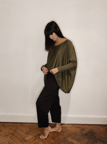 WDTS -fine knit sweater - Forest