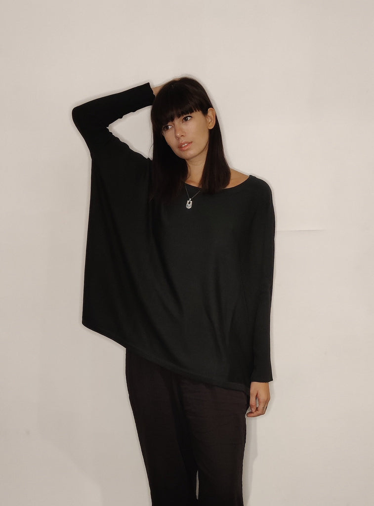 WDTS -fine knit sweater - Black
