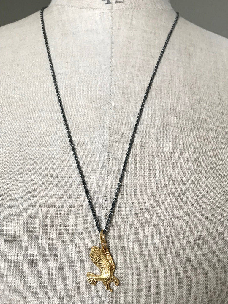 Gold plated 925 Silver Eagle Necklace