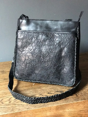 CollardManson Agnes Bag- black floral