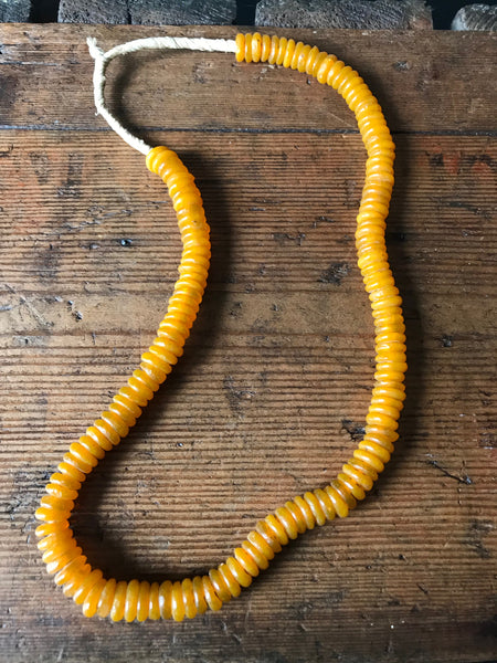 Light orange African bead necklace