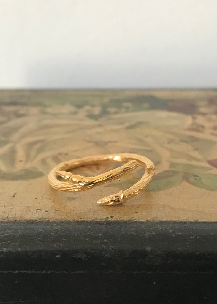 Gold plated 925 Silver Branch Ring