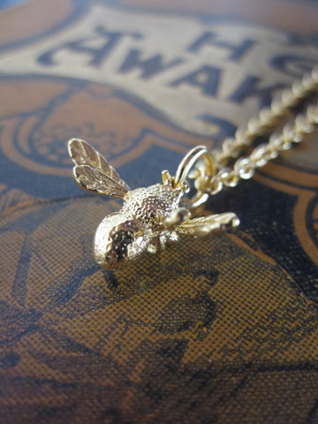 CollardManson  Bee Necklace-925 silver with Gold Plate