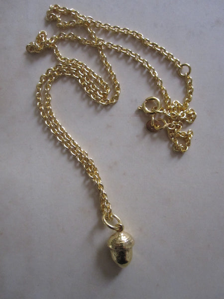 Acorn Necklace  925 silver - Gold Plated