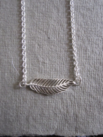 Horizontal Leaf Necklace 925 silver