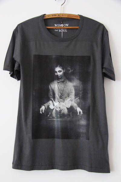 Window Dressing The Soul Pig T shirt charcoal
