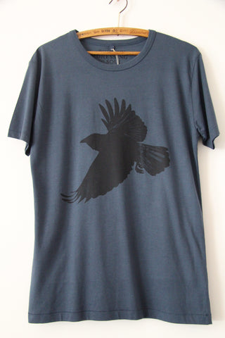 Window Dressing The Soul- Crow Jersey T Shirt cobalt