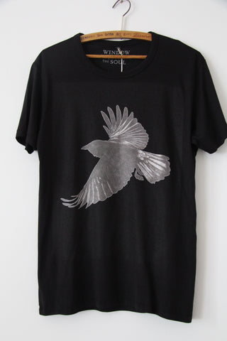 Window Dressing The Soul- Crow Jersey T Shirt black
