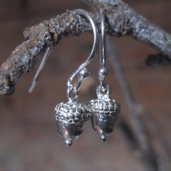 CollardManson 925 Silver Acorn Earrings