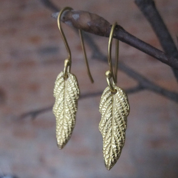 CollardManson 925 Silver/Gold Plated Leaf Earrings