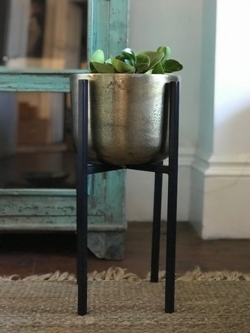 Planter on Stand - Gold colour - small