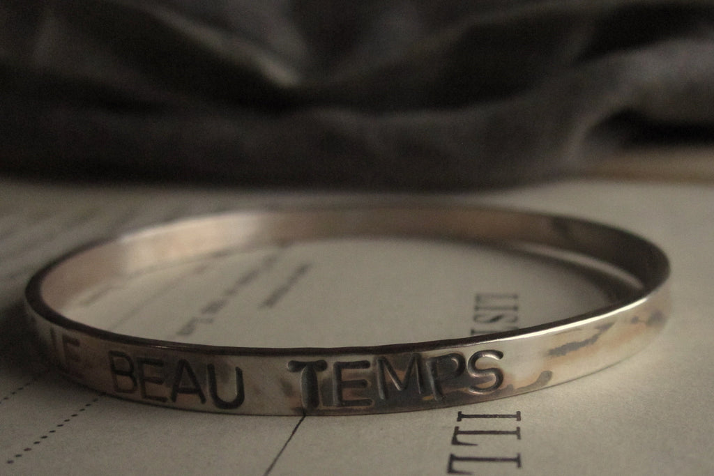 WDTS Sheffield Silver - Hand Hammered Bangle or Cuff - APRES LA PLUIE LE BEAU TEMPS