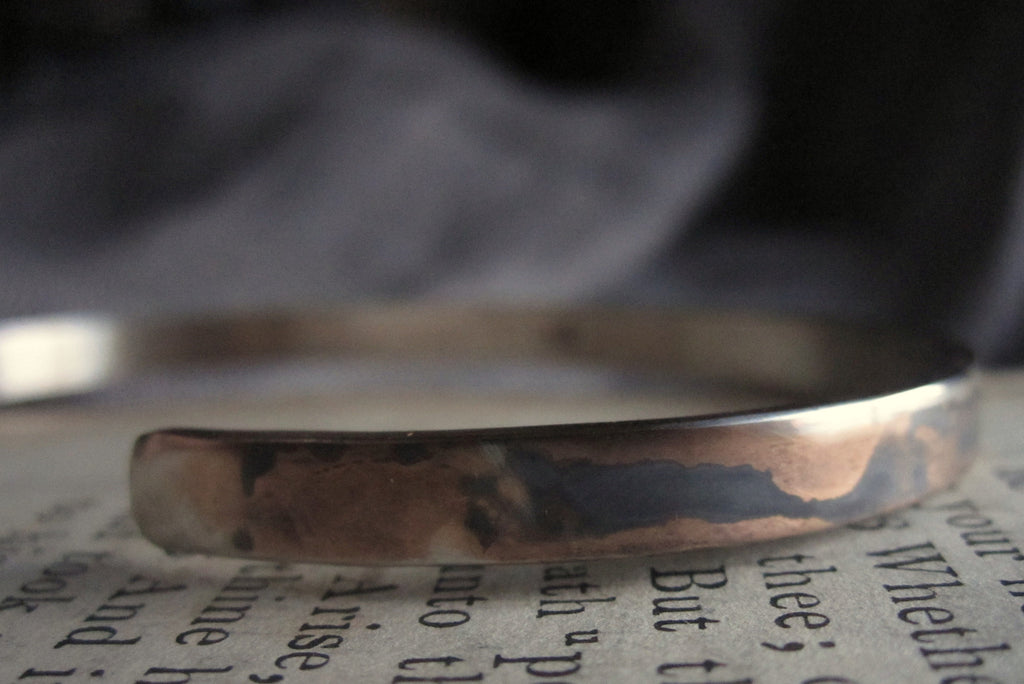 WDTS Sheffield Silver - Hand Hammered Cuff - [BLANK] - Mixed Finish