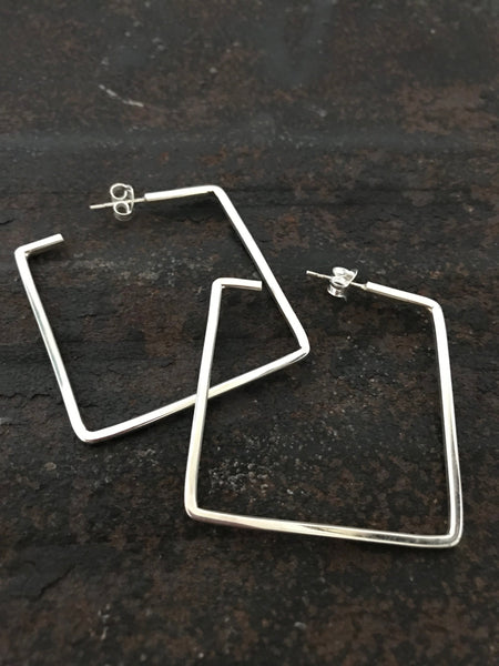 Squared Hoops - silver