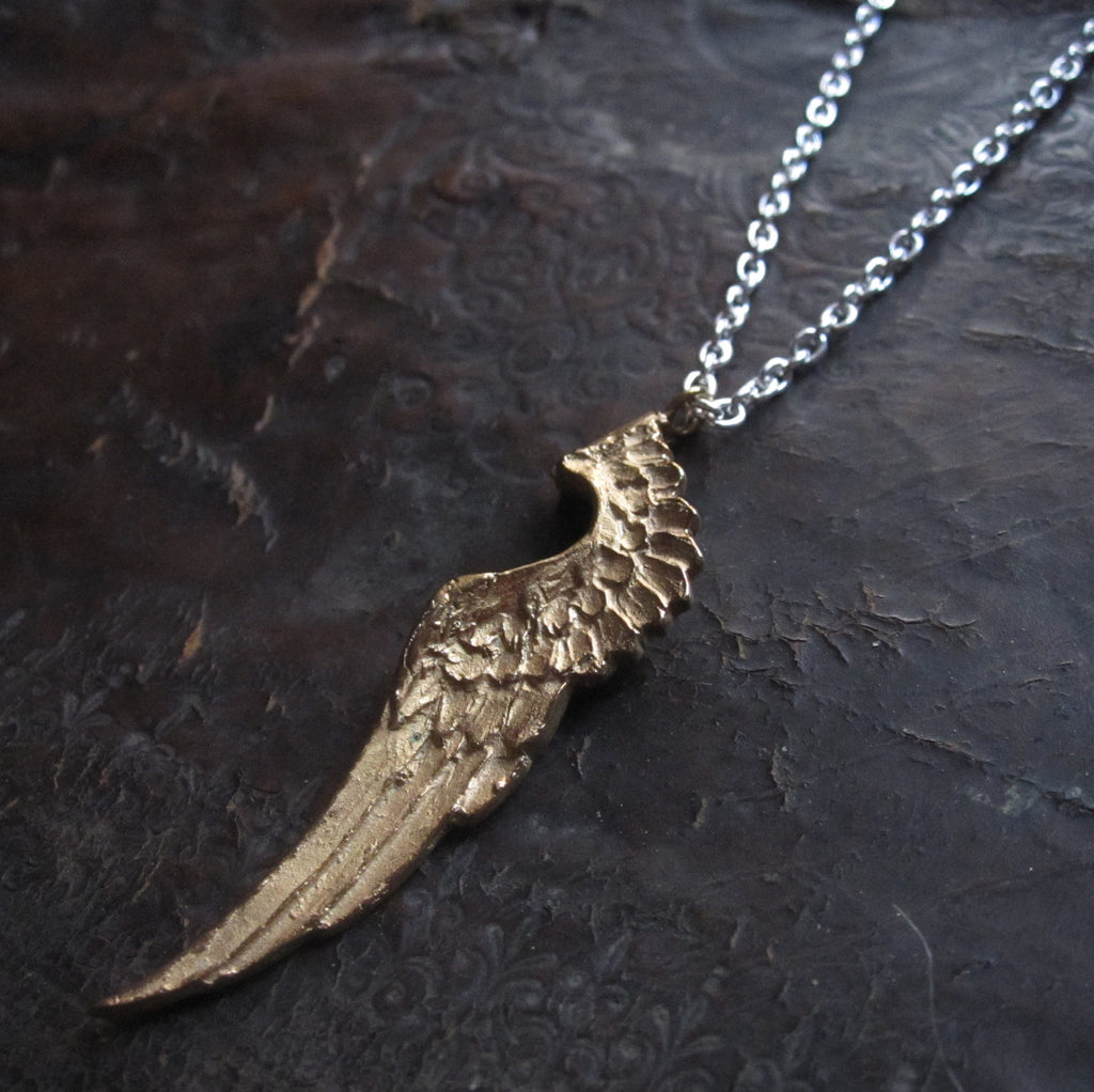 WDTS Sheffield Silver - Aviary -Large Wing- Gold Finish