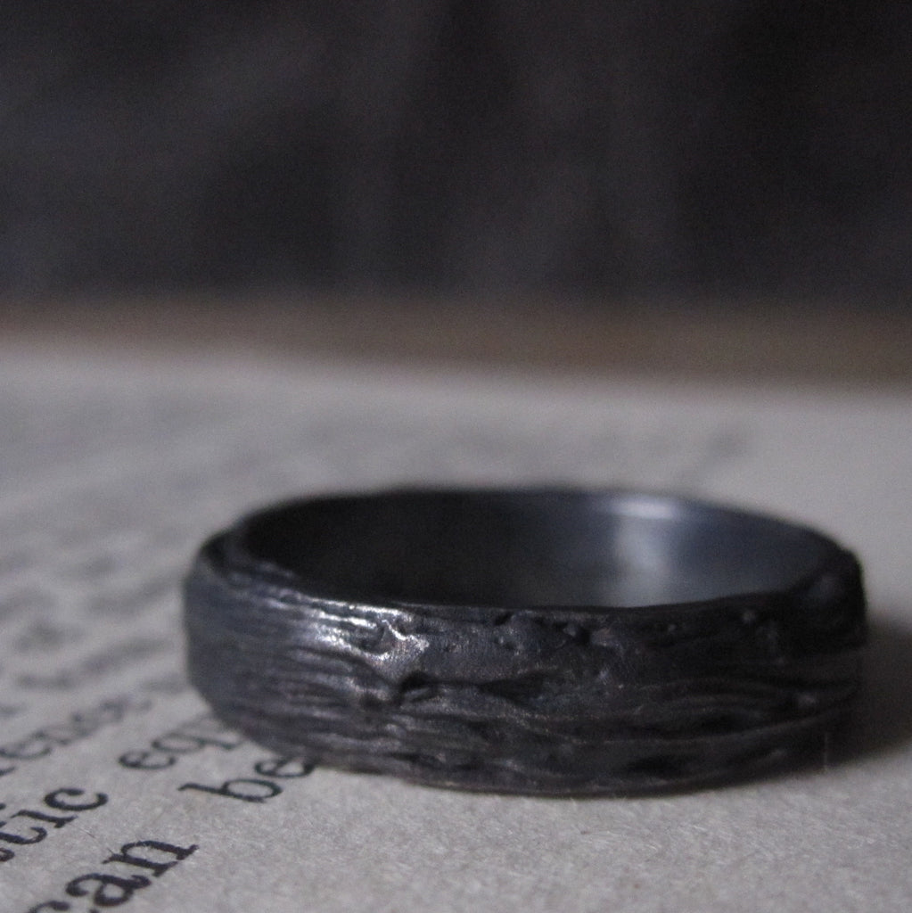 CollardManson 925 Distressed Band Ring