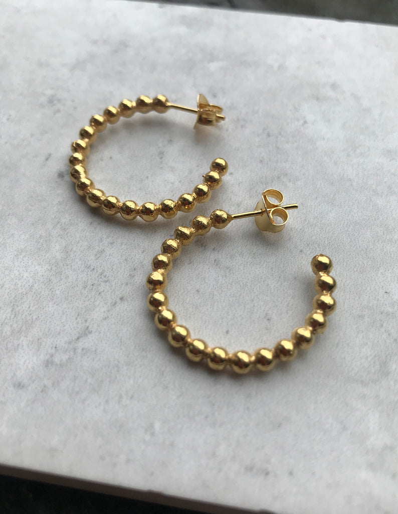 Ball Hoops - Gold plated