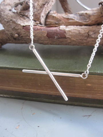 925 Silver CrissCross Necklace