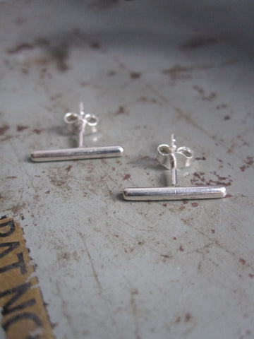 925 Silver Bar Earrings