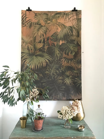 Paper sheet wall hanging - Tropics