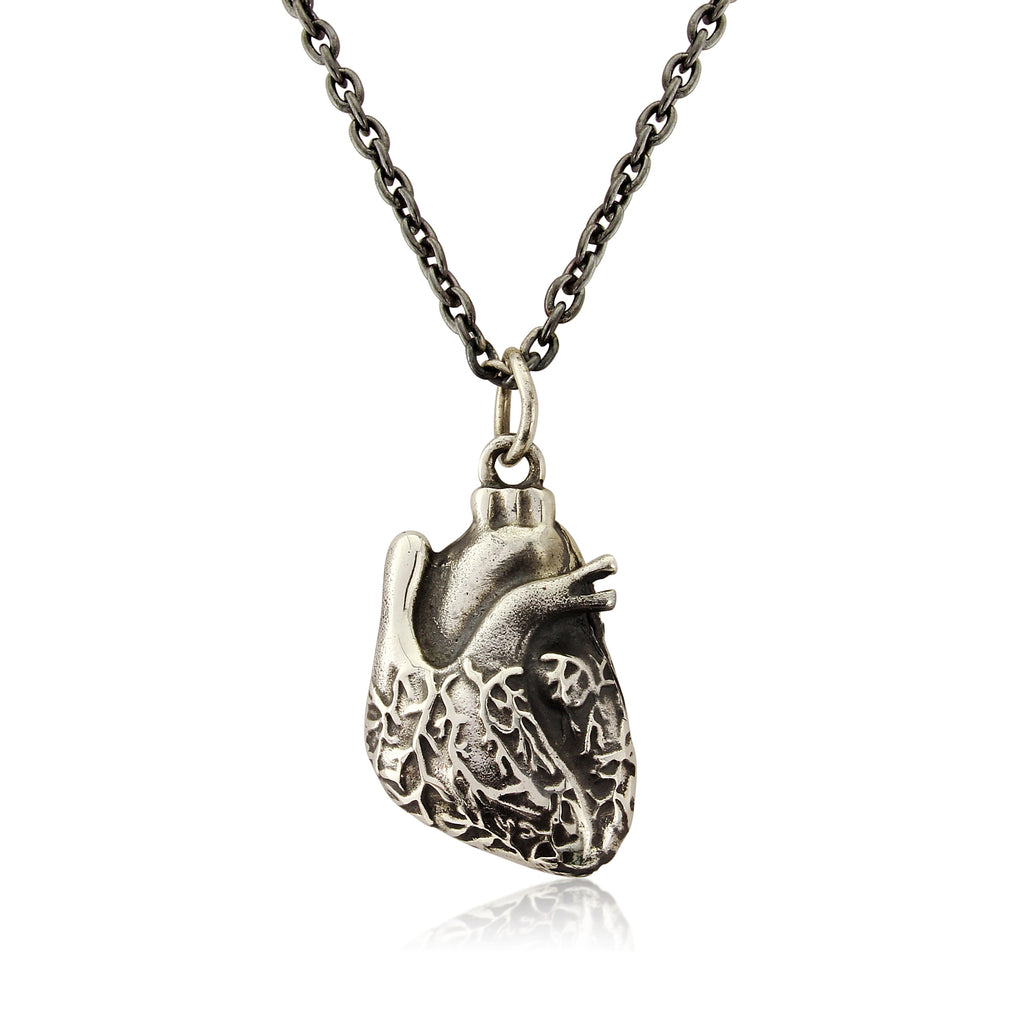 WDTS 925 Silver Anatomical Heart Necklace