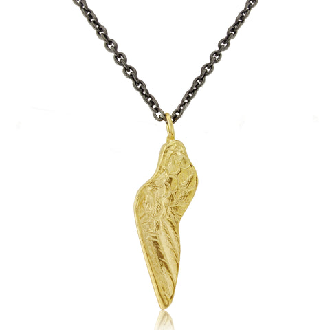 925 silver- Small Wing Necklace - Gold plated