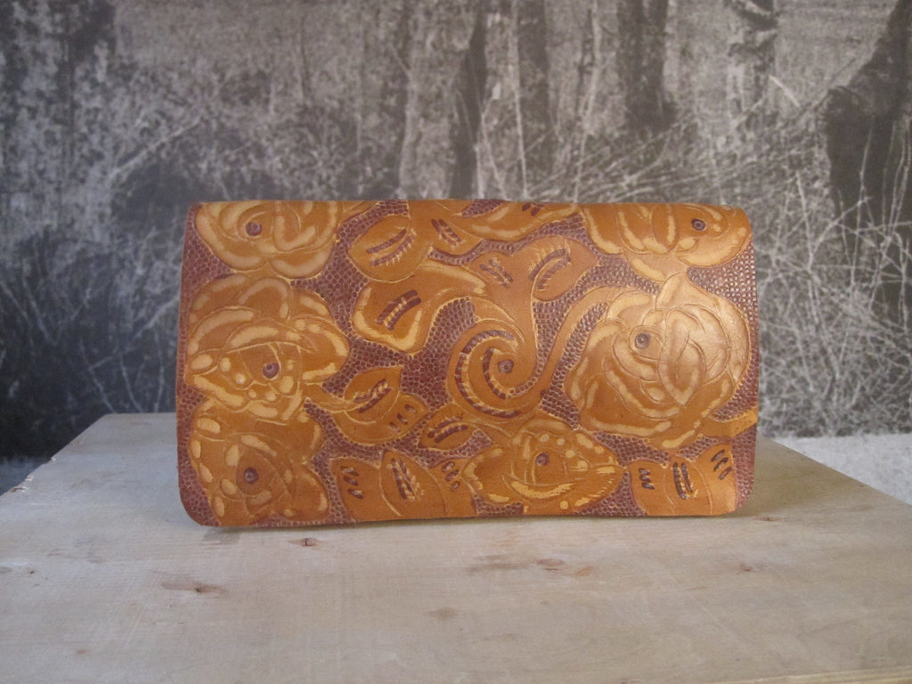 CollardManson Tooled Clutch - Tan
