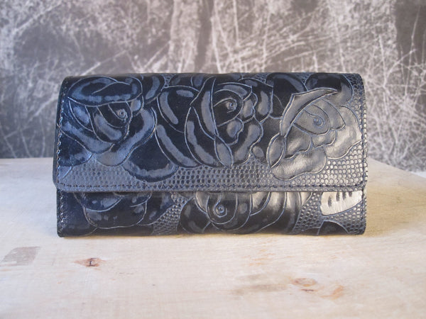 CollardManson Tooled Wallet - Black