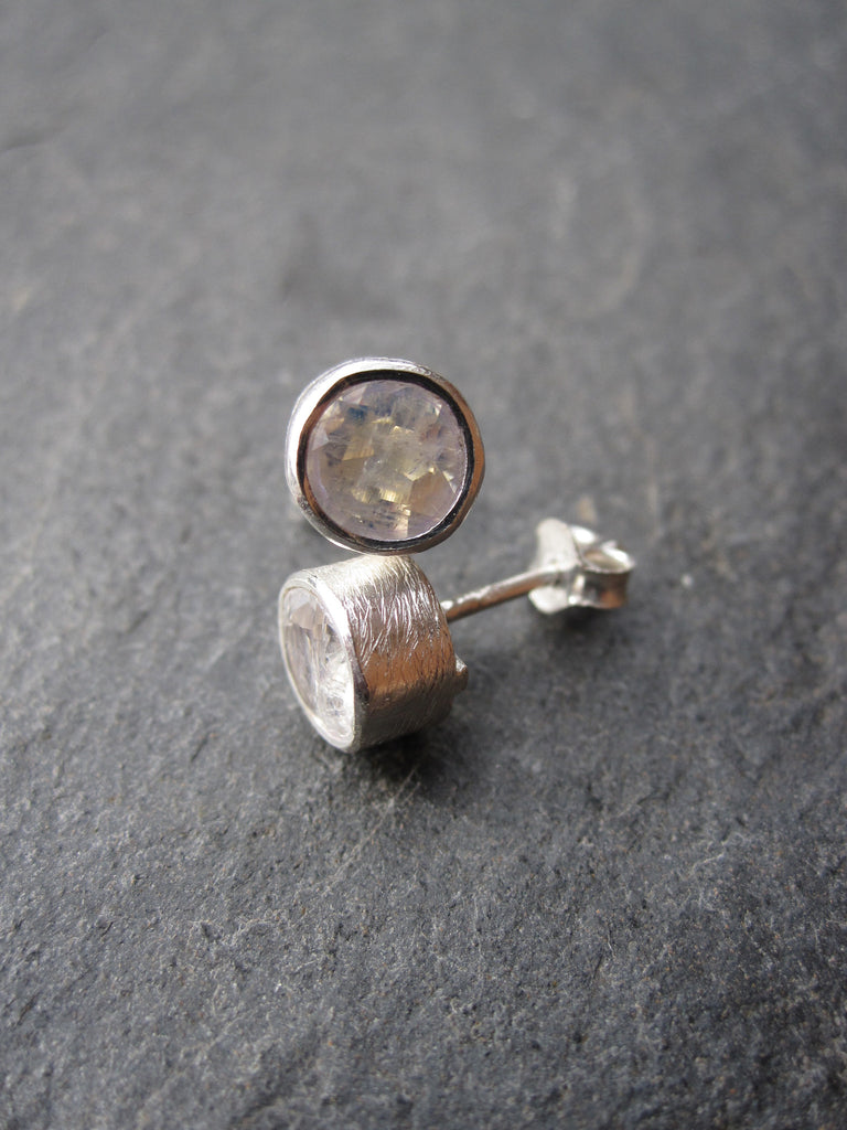 CollardManson 925 Silver R Moonstone Brushed studs