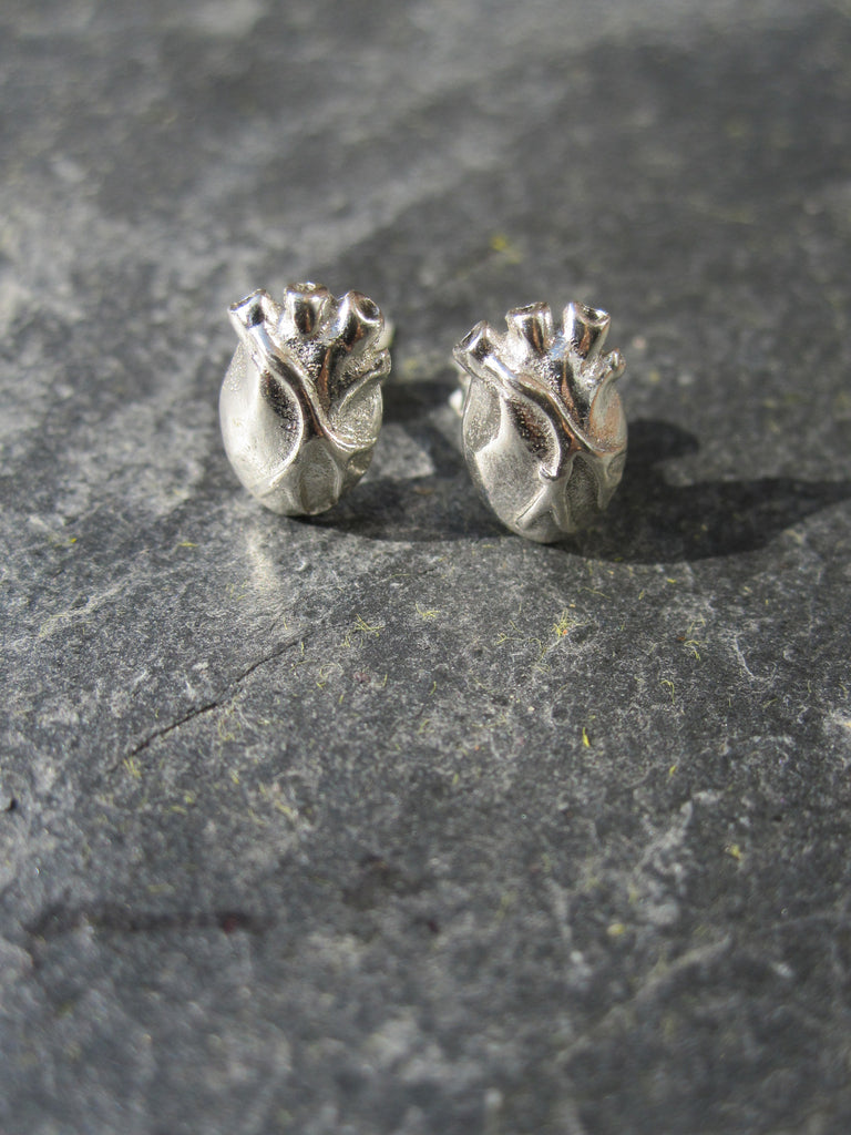 WDTS 925 Silver Heart Earrings.