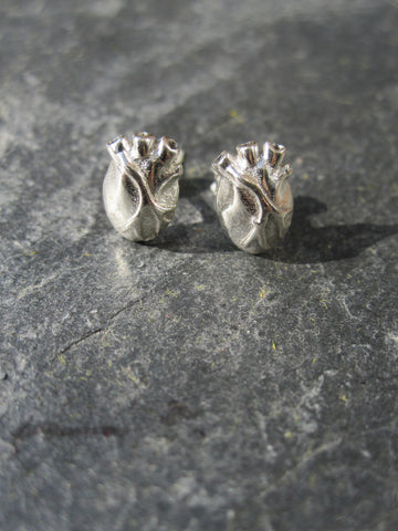WDTS 925 Silver Heart Earrings