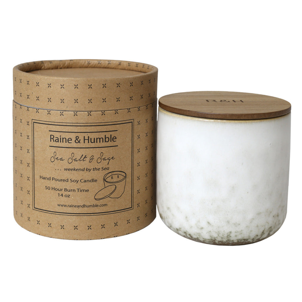 Sea Salt & Sage Candle Ceramic