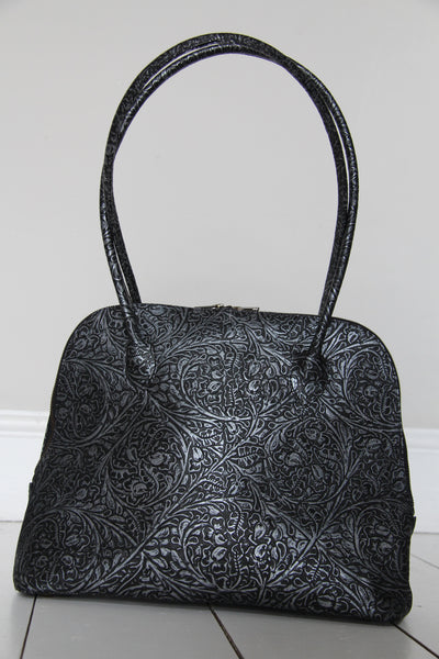 CollardManson Bowling Bag -  Black/silver tooled