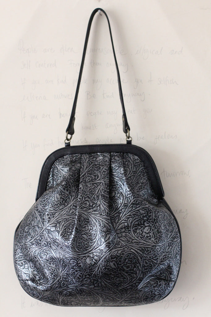 CollardManson Anya Tote - Silver Tooled