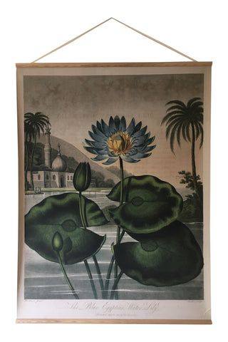 Canvas wall hanging - Blue Flowering Plant
