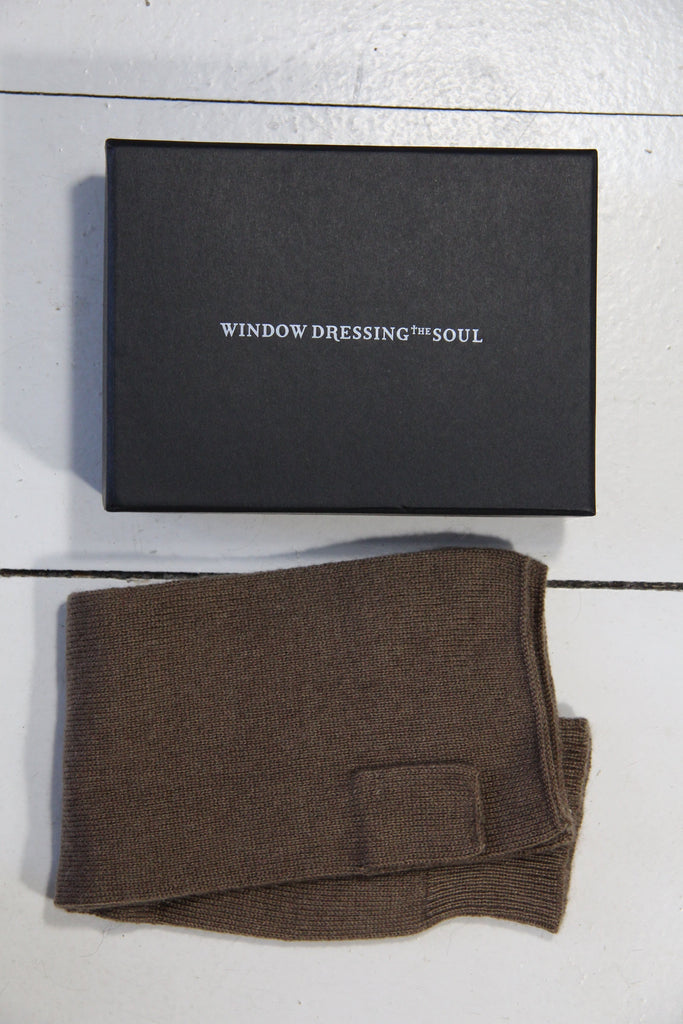WDTS - Arm warmers in mocca wool