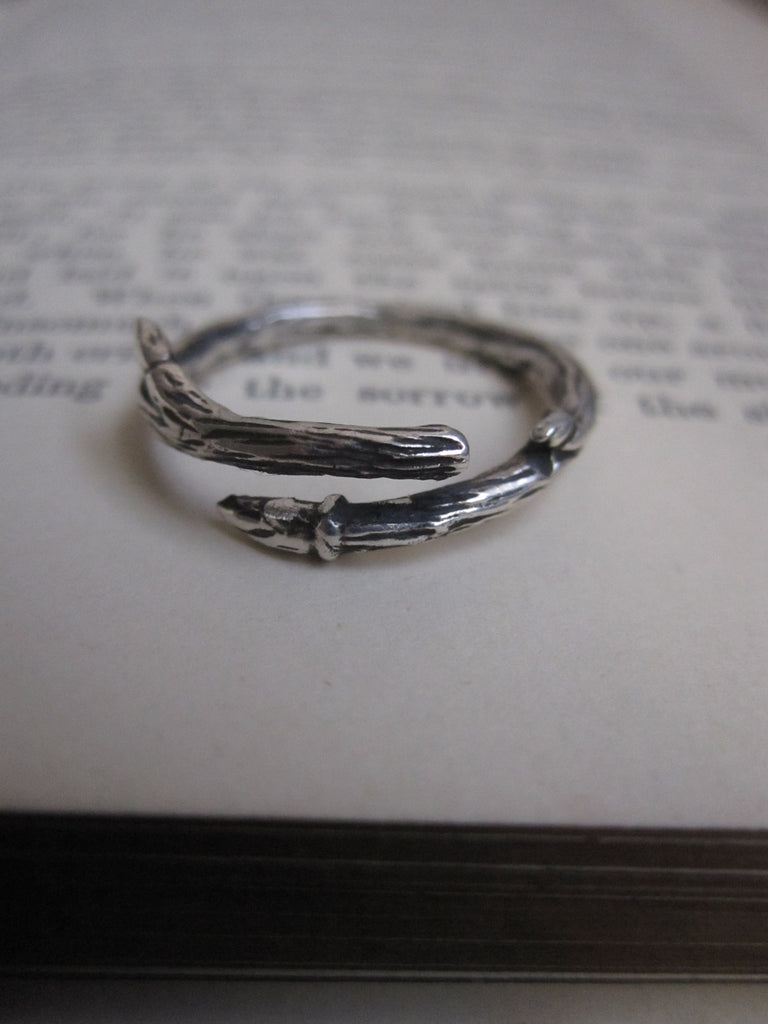 925 Silver Oxidised Branch Ring