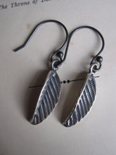 925 silver folded leaf earrings