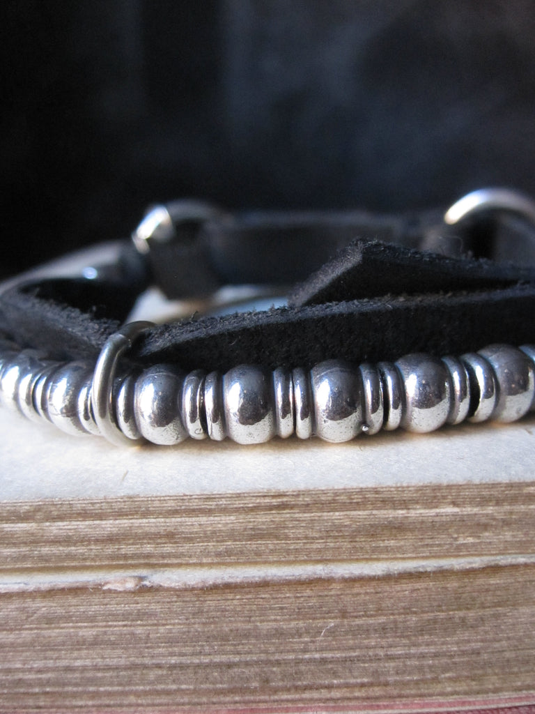 Goti bracelet in 925 Silver and leather BR206