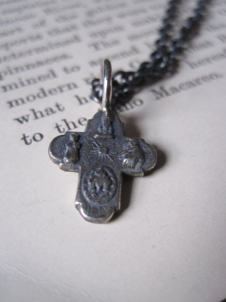 WDTS 925 Silver tiny cross necklace