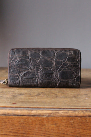 CollardManson Croc Wallet- Brown