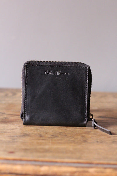 CollardManson Square Wallet- Black
