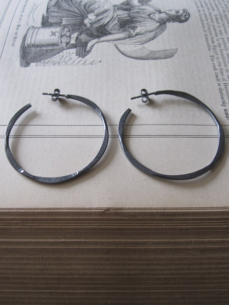 Irregular Oxidised Medium hoops