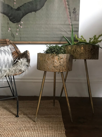 Gold planters - set of 2